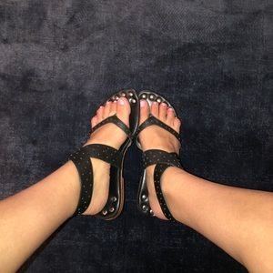 Wrap-Up Leather Sandals
